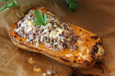 Butternut squash roasted with mushrooms and summer truffle sauce - by Afternoon Tea